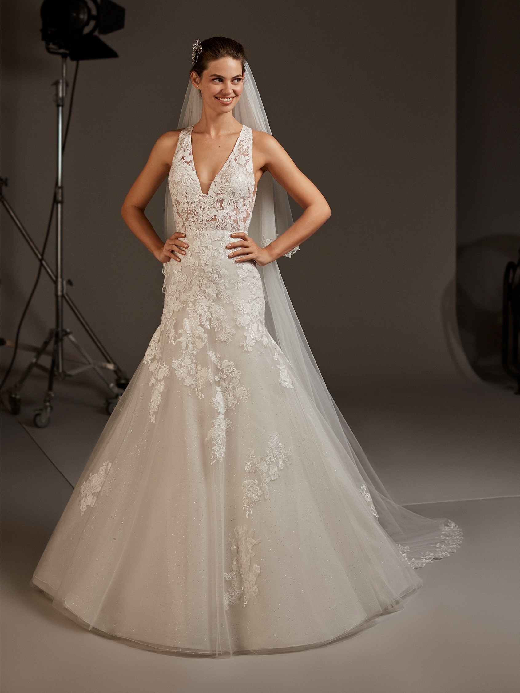 Lace Mermaid Wedding Dress With Keyhole Back Pronovias