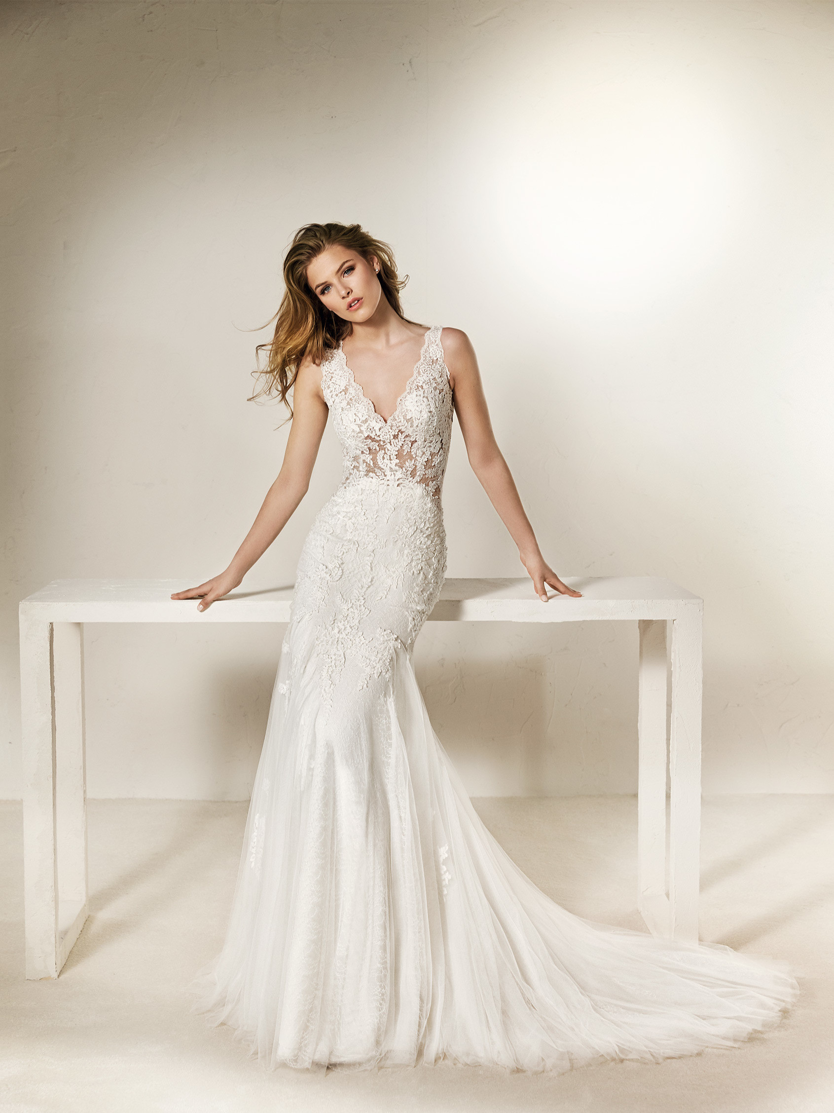 Chanai Mermaid Wedding Dress With Illusions And Flowers