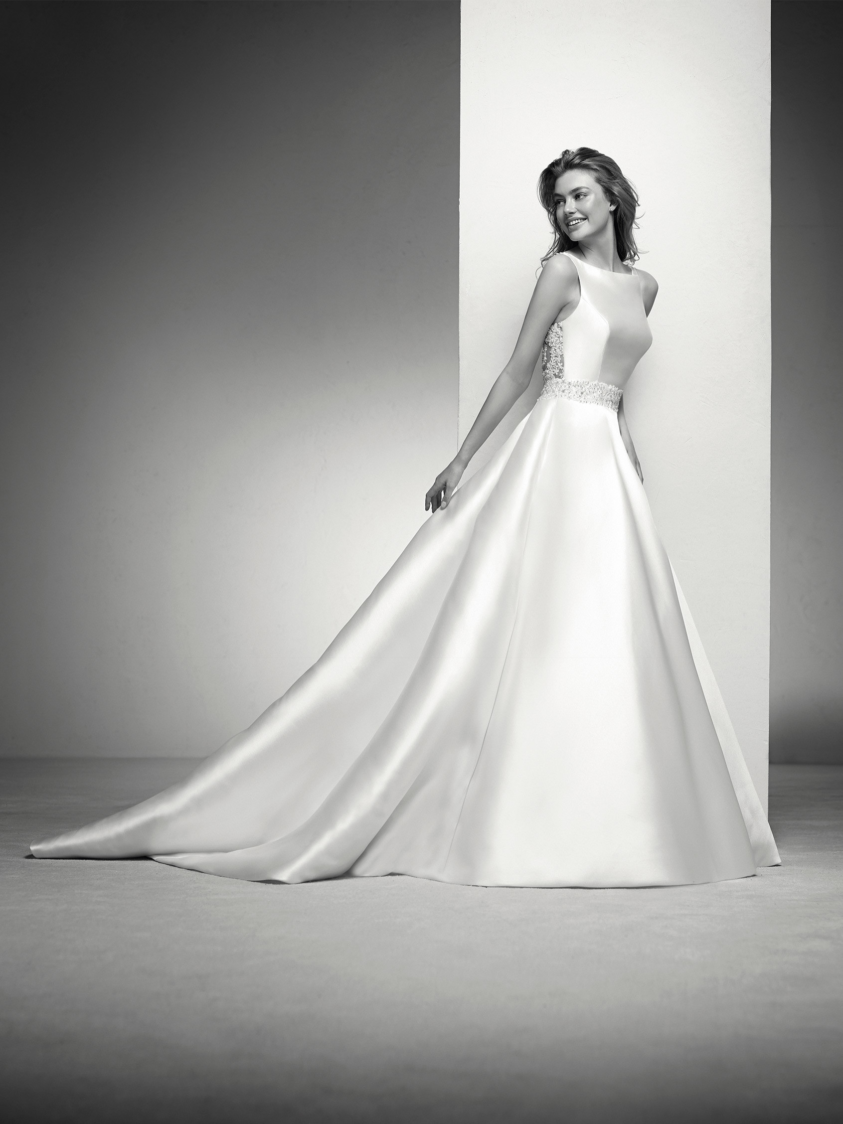 Irlena: Ball gown wedding dress with beading at the waist ...