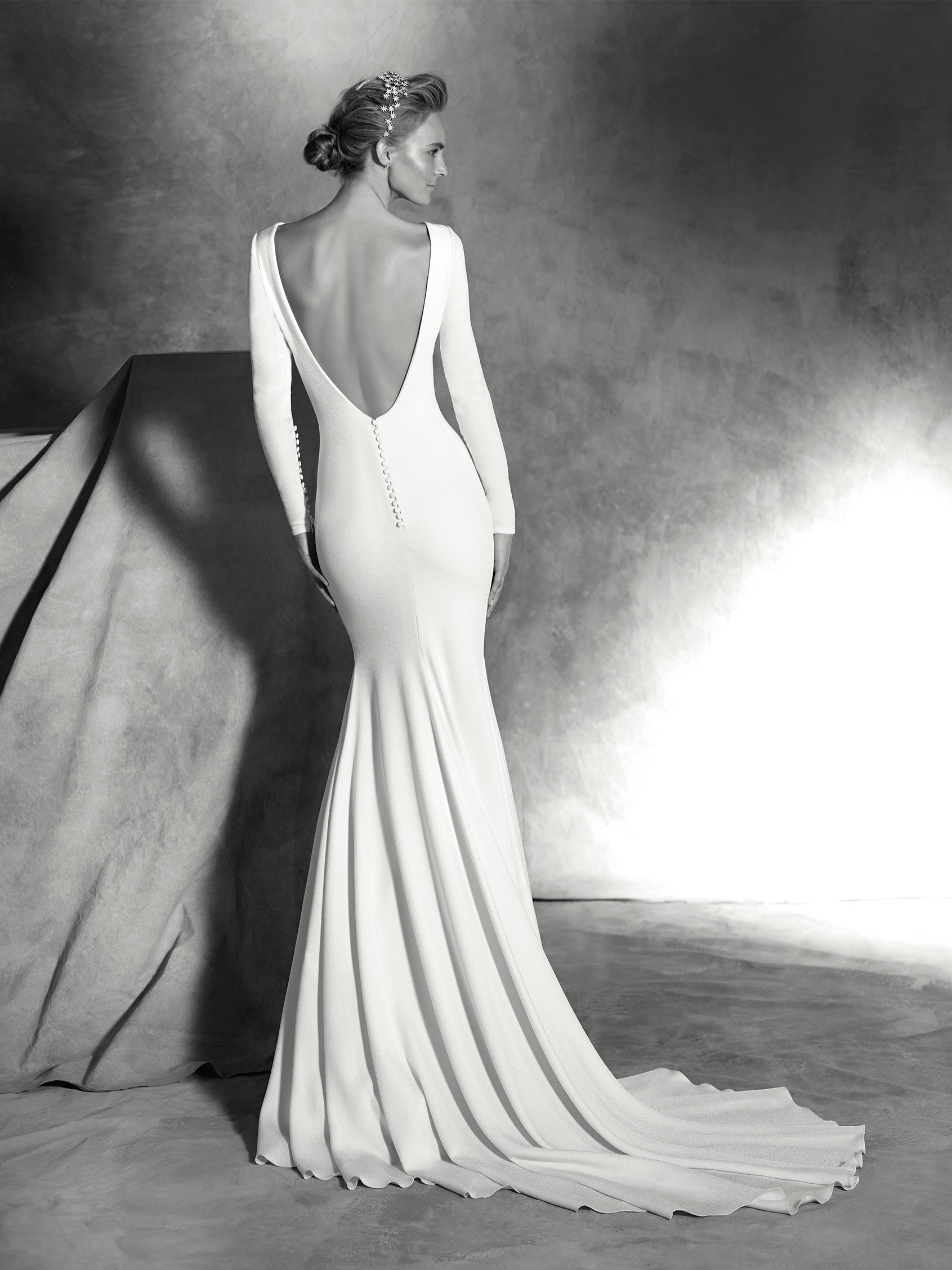 Ivania Simple Wedding Dress With Long Sleeves