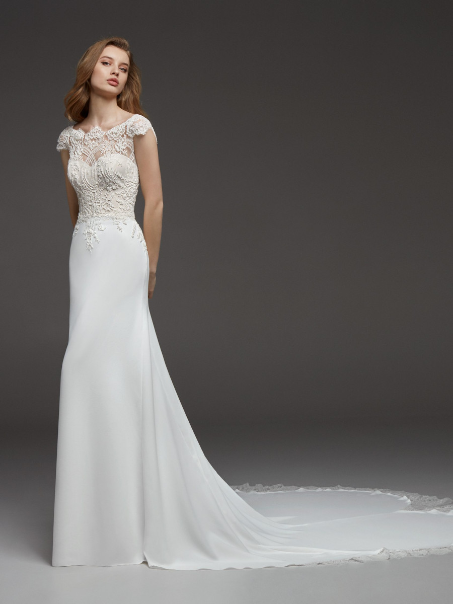 Short Sleeved Wedding Dresses Bridal Gowns Pronovias