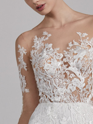Wedding Dress With Spectacular Illusion Bodice Estepona