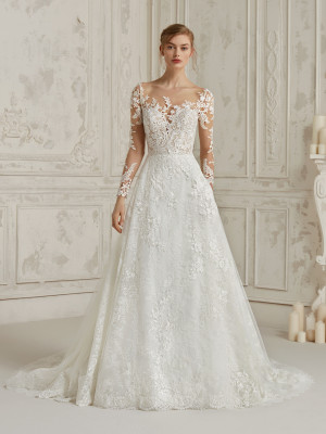 Wedding Dress Princess With Second Skin Effect