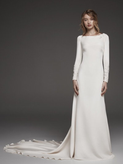 Long Sleeved Wedding Dresses.Long Sleeved Wedding Dress With Illusion Back Huarte Pronovias
