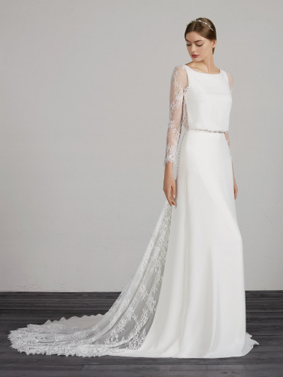info for 70996 b08ac Abito da sposa con gonna svasata elegante e originale ...