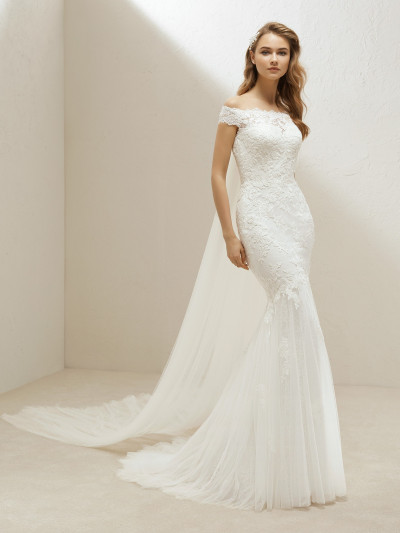 Fabulous Mermaid Wedding Dress With Off The Shoulder Straps